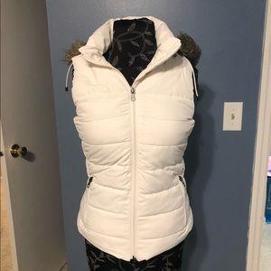 Banana Republic fur lined vest